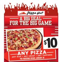 Pizza Hut Expects to Surpass 2 Million Pizzas Sold on Football's Biggest Day