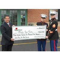 """Applebee's Franchisee Tops Restaurant Industry in """"Toys for Tots"""" Cash Contributions"""