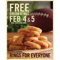 Burger King Kicks off Championship Weekend by Giving Away Free Onion Rings to Fans Nationwide on Feb. 4th and 5th
