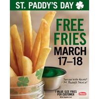Celebrate St. Patrick's Day with Free Fries at BK