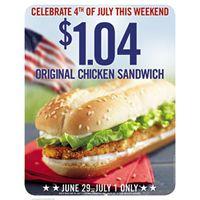 Burger King Offers Original Chicken Sandwich Deal for Independence Weekend
