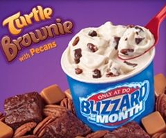 Dairy Queen Turtle Brownie Blizzard