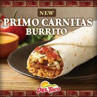 Del Taco's Primo Carnitas Burrito Headlines Star-Studded, Flavor-Packed Carnitas Lineup of New Tastes