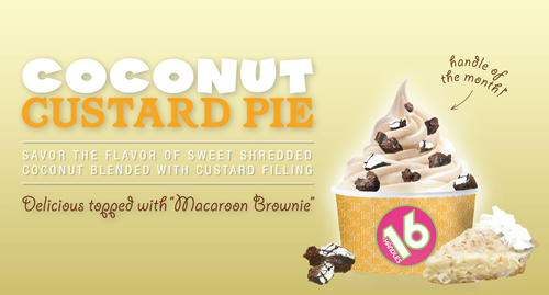 16 Handles Battles Summer Swelter With New 'Coconut Custard Pie' Frozen Yogurt