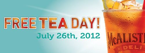 McAlister's Deli Free Tea Day