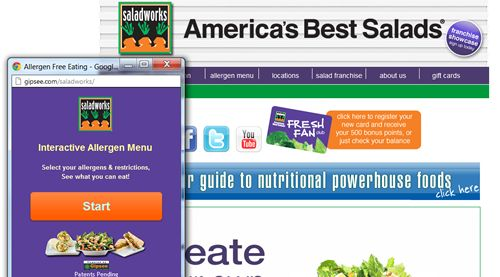 Saladworks introduces Interactive Allergy Menus by Gipsee