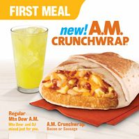 Taco Bell Reinvents Breakfast and Expands 'FirstMeal' with the Introduction of the A.M. Crunchwrap
