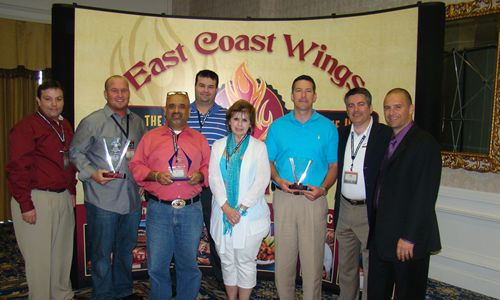 East Coast Wings & Grill Awards 'Keys to Excellence' to Franchise Owner with a New Car
