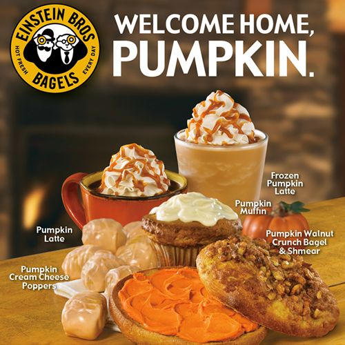 Einstein Bros. Celebrates Fall With New and Returning Pumpkin Offerings