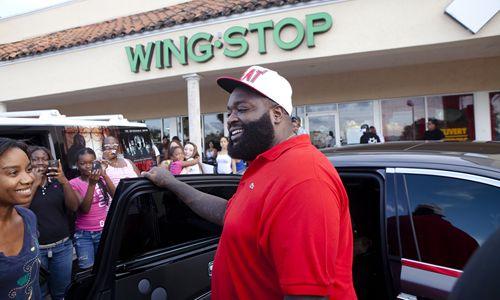 Rick Ross Heats Up Wingstop Restaurant in Miami