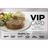 Buffets, Inc. Gift Card Program is the Gift that Keeps on Giving: Free Meals with $25 Gift Card Purchases During the Holidays