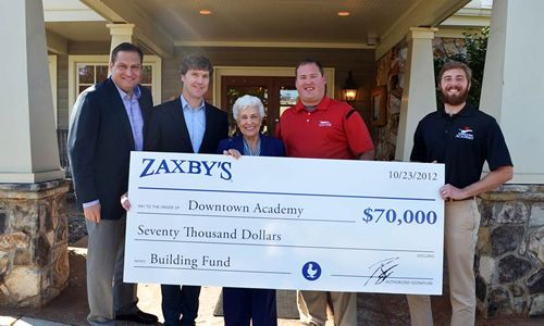 Zaxby's Donates $70,000 to Develop New Children's Academy