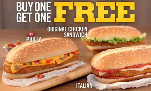Burger King Restaurants Buy Any Original Chicken Sandwich, Get One Free Deal