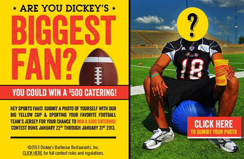 Dickey's Barbecue Gets Social for the Big Game