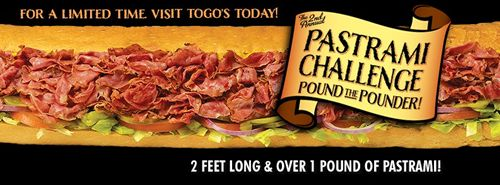 Pastrami Lovers Unite During Togo's 2nd Annual Pastrami Pounder Challenge