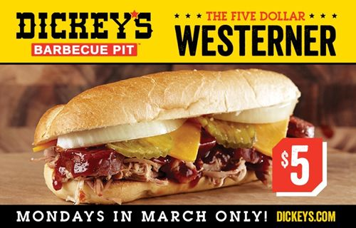 Mondays in March Just Got Tastier at Dickey's Barbecue