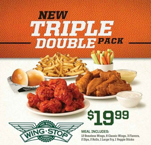 Basketball Fans Score Big with Wingstop Triple Double Pack