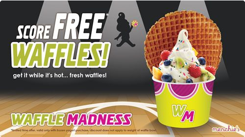 Menchie's Celebrates March Madness with Waffle Giveaway