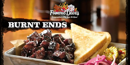Famous Dave's Unleashes BBQ's Dark Secret: Burnt Ends Revealed