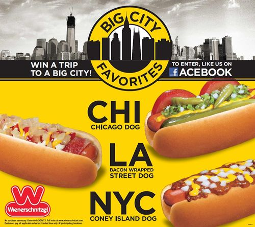 "Wienerschnitzel Announces ""Big City Favorites"" Sweepstakes"