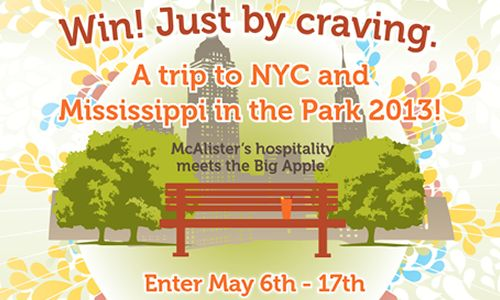 "McAlister's Launches Sweepstakes For Trip To ""The Big Apple"""
