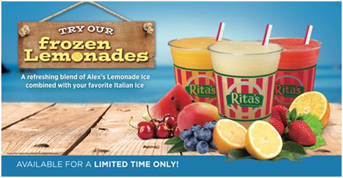Rita's Italian Ice Introduces Frozen Lemonade