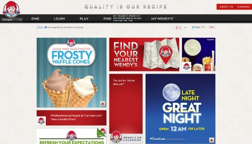 Wendys.com: Going Mobile
