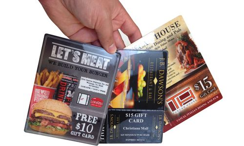 Postcards. Re-Invented. Plastic Postcard Gift Card Mailers.