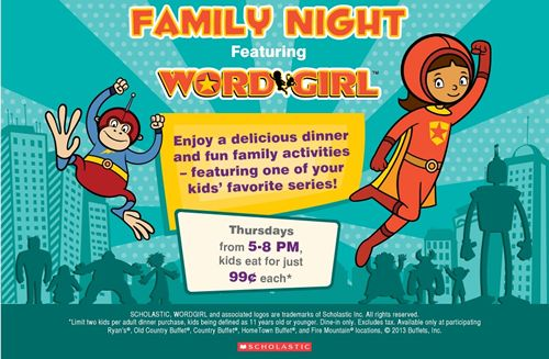 "Ryan's, HomeTown Buffet and Old Country Buffet Make ""Fun"" the Word of the Month with Free Word Girl Activities in June"