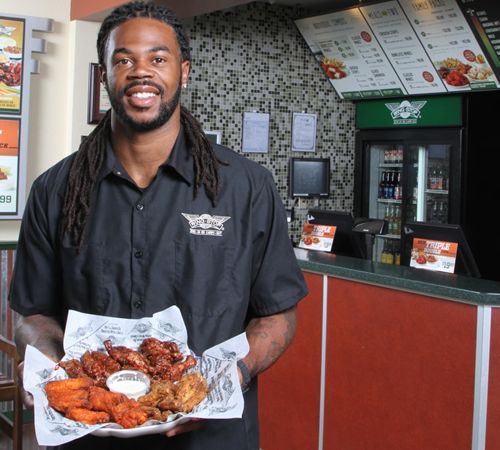 Seattle Seahawks Wide Receiver Sidney Rice Takes Off with Wingstop