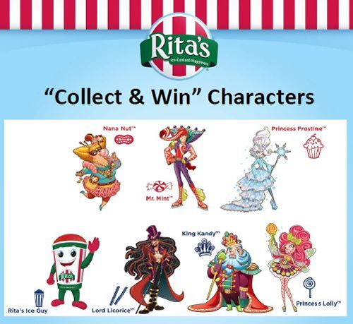 Rita's Italian Ice Begins CANDY LAND Collect and Win Game Today!