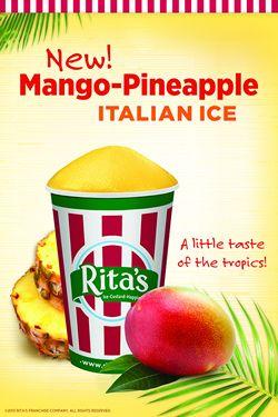Rita's Italian Ice Introduces Mango-Pineapple Ice