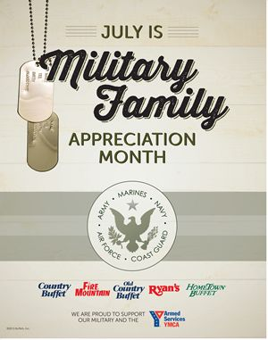 Ryan's, HomeTown Buffet and Old Country Buffet Celebrate Military Families With New Appreciation Program