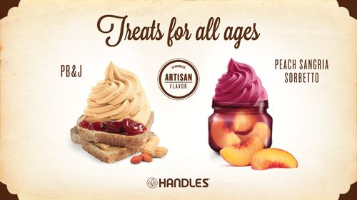 16 Handles Flaunts Flavor Innovation with New Frozen Yogurt Treats; PB&J Fro-Yo and Peach Sangria Sorbetto Launch in August