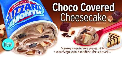 Dairy Queen Restaurants Debut Choco Covered Cheesecake as the September Blizzard of the Month