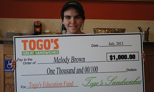 Togo's Announces Recipients of First Annual Education Fund