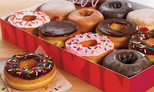 Dunkin' Donuts Makes A Right Turn Onto The Kansas Turnpike