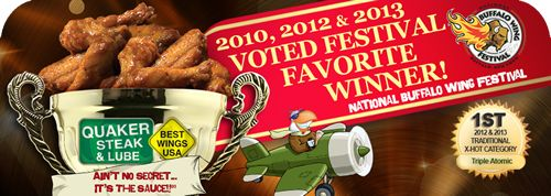 Quaker Steak & Lube Wins National Buffalo Wing Festival Favorite For Second Straight Year