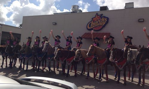 Church's Chicken Drive-Thru in Katy, Texas Welcomes a New Type of Customer