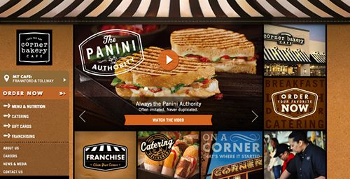 Corner Bakery Cafe Launches New Cutting Edge Website