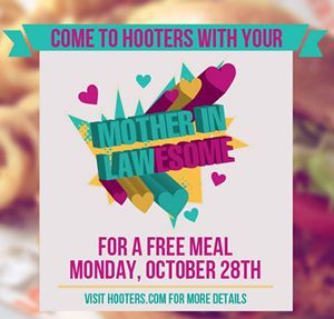 "Hooters Celebrates ""Mother-in-Lawesome Day"" with Free Meal on Oct. 28"