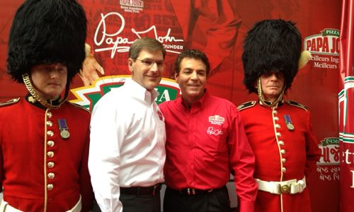 Papa John's Commemorates Reaching the 1,000 International Restaurant Milestone with Grand Celebration in London