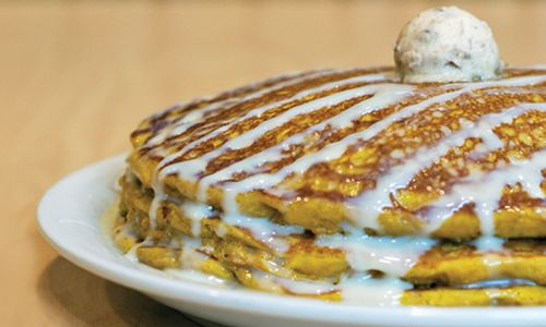 Pumpkin Spice Pancakes are back at Sunny Street Café