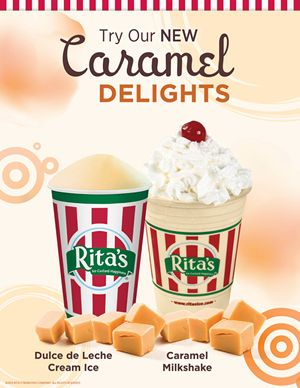 Rita's Italian Ice Introduces New Caramel Delights!
