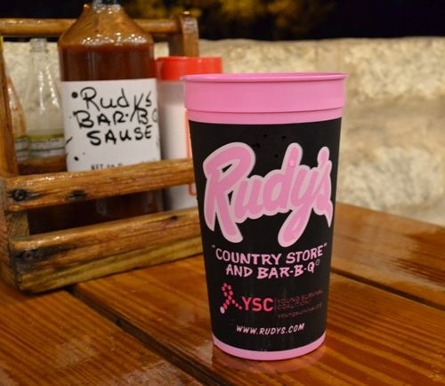"Rudy's ""Country Store"" and Bar-B-Q Brings Back Pink Cups for Breast Cancer Awareness Month and Raises Funds for Young Survival Coalition"