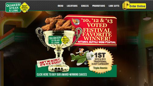 Award-Winning Quaker Steak & Lube Unveils New Website