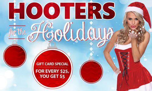 """Hooters Celebrates the Holiday Season with """"Santa's Bucks"""" Bonus Gift Cards"""