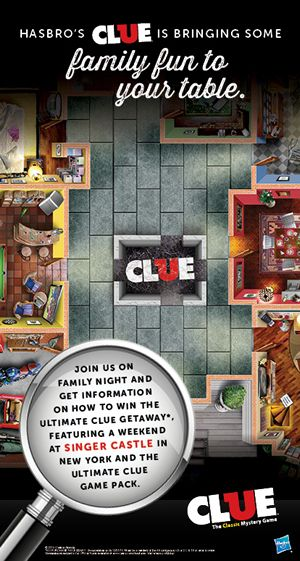 Play Detective with Clue at Ryan's, HomeTown Buffet and Old Country Buffet this December