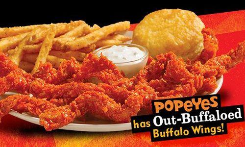 "Popeyes New Bayou Buffalo Wicked Chicken ""Out Buffaloes"" Buffalo Wings"