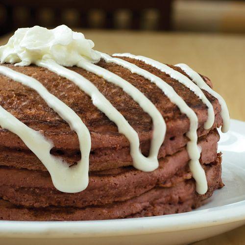 Sunny Street Café Red Velvet Pancakes
